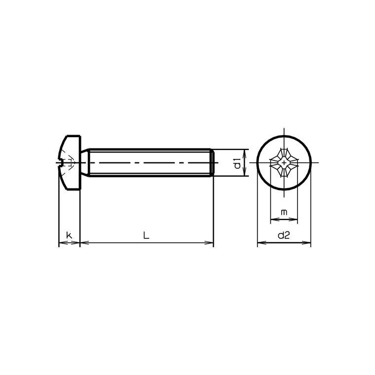 Schrauben M2,5x4mm Linsenkopf Rostfrei
