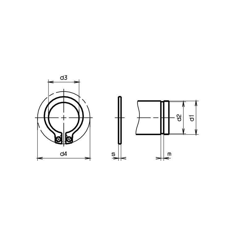 Seegerringe 10 Stück Sicherungsringe Welle A 27x1.2 mm DIN 471 Federstahl