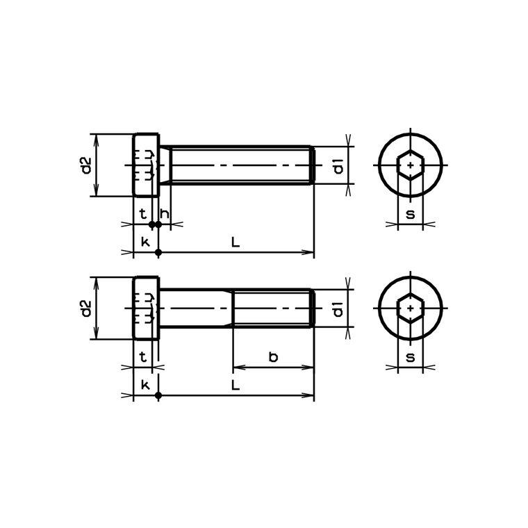DIN 7984 Vis cylindrique /à six pans creux et t/ête basse en acier inoxydable A2 M3X5 1 VPE 10 pi/èces