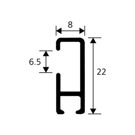 Rail pour tableau cheap affordable rail de fixation pour miroir dupaisseur with attache pour - Fixation miroir lourd ...