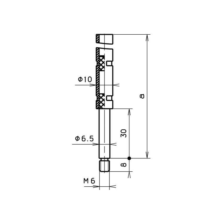 G U Bks Treibriegelstange Oben B9006 Gewinde M6 Panikschlosser Und